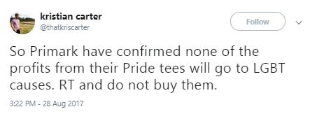 Manchester Pride t shirt reaction 2