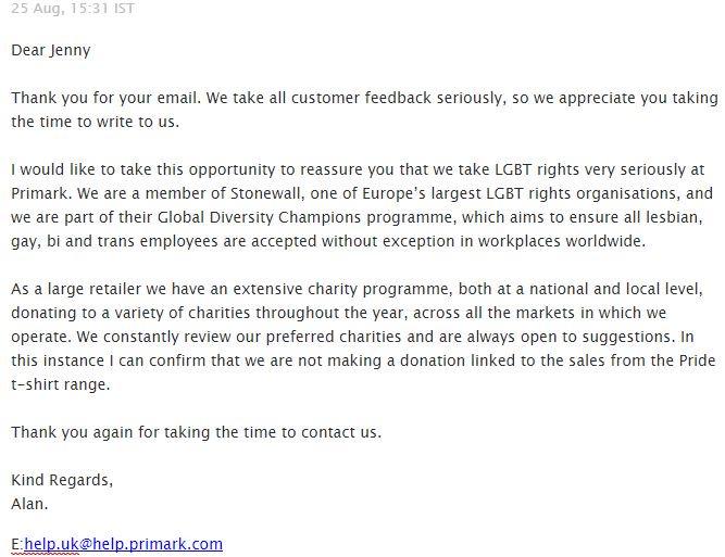 Primark email