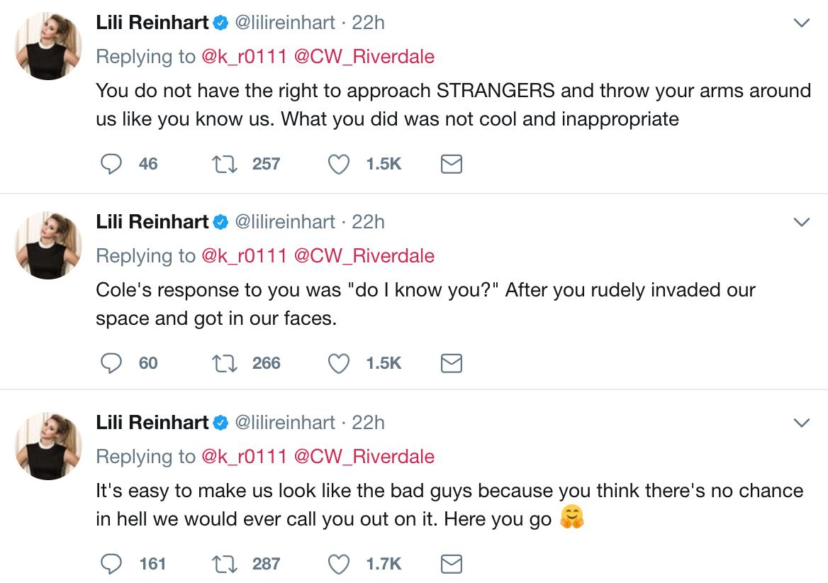 Lili Reinhart Tweets