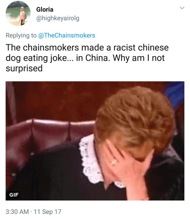 Chainsmokers Twitter video reaction 1
