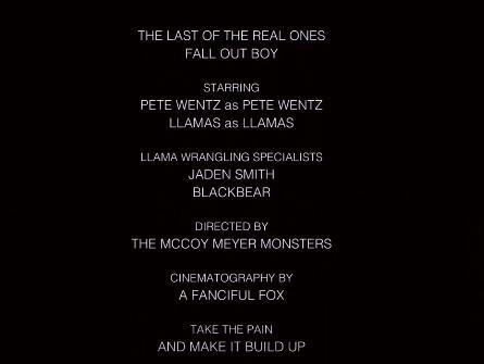 fall out boy credits