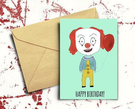 pennywise bday card