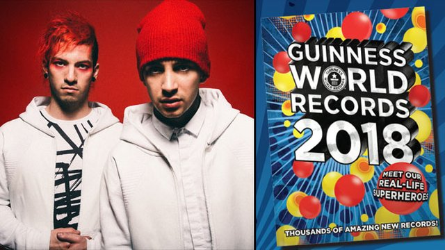 twenty one pilots just got added to the guinness book of world
