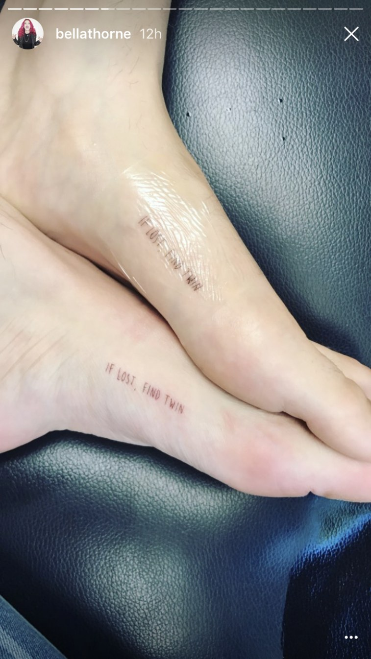 Bella Thorne tattoo 2