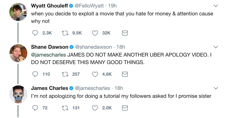 James Charles Wyatt Oleff Twitter