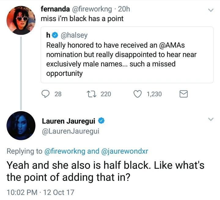 Lauren J twitter clapback