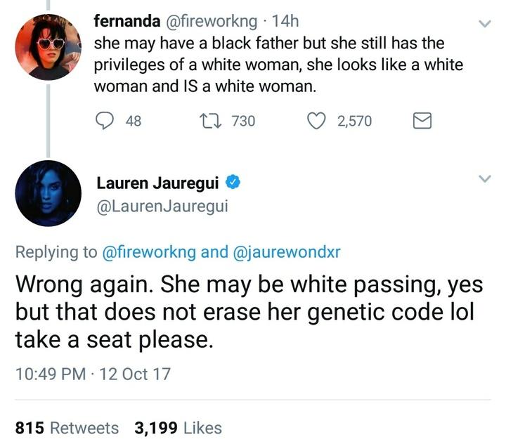 Lauren J twitter clapback 2