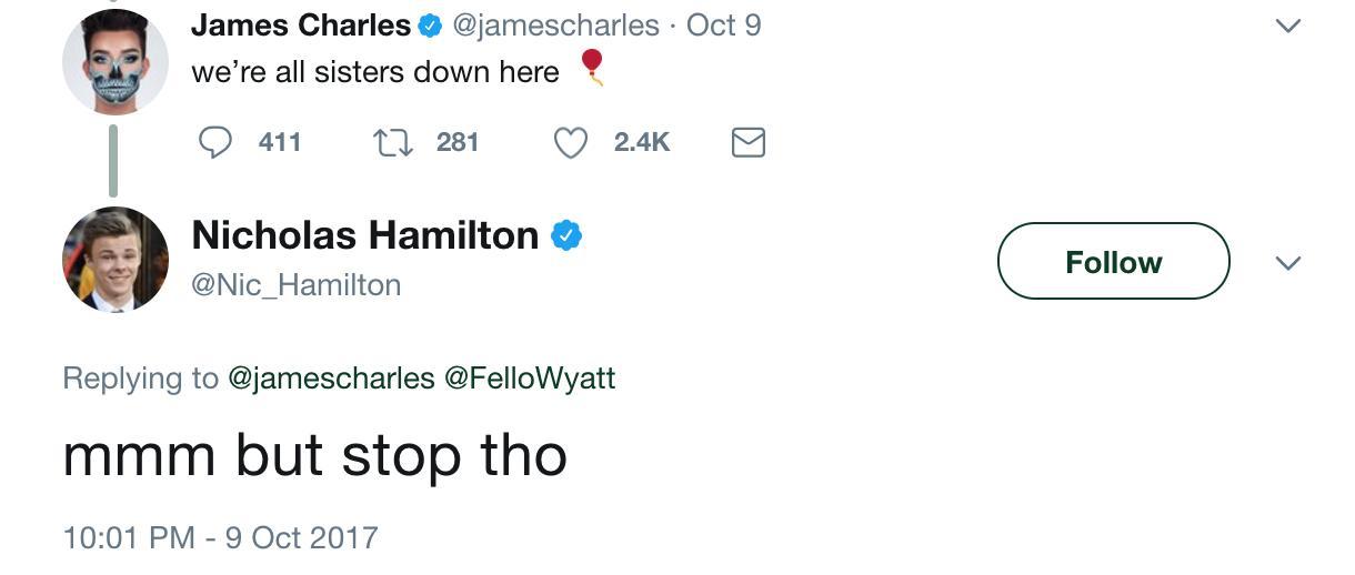 Nicholas Hamilton Tweets