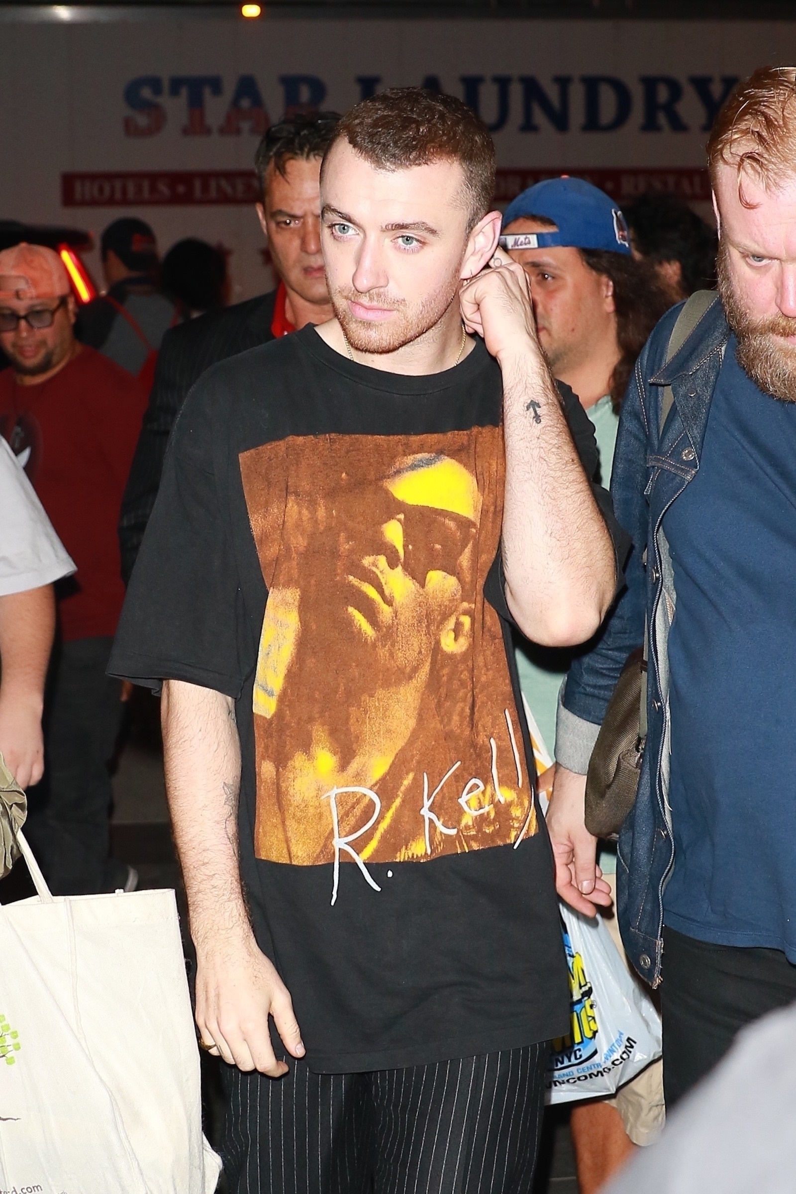 Sam Smith wearing R Kelly T Shirt