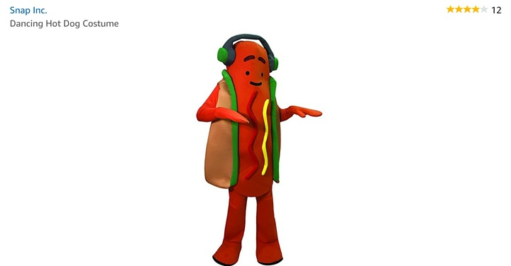 Snap Inc dancing hot dog