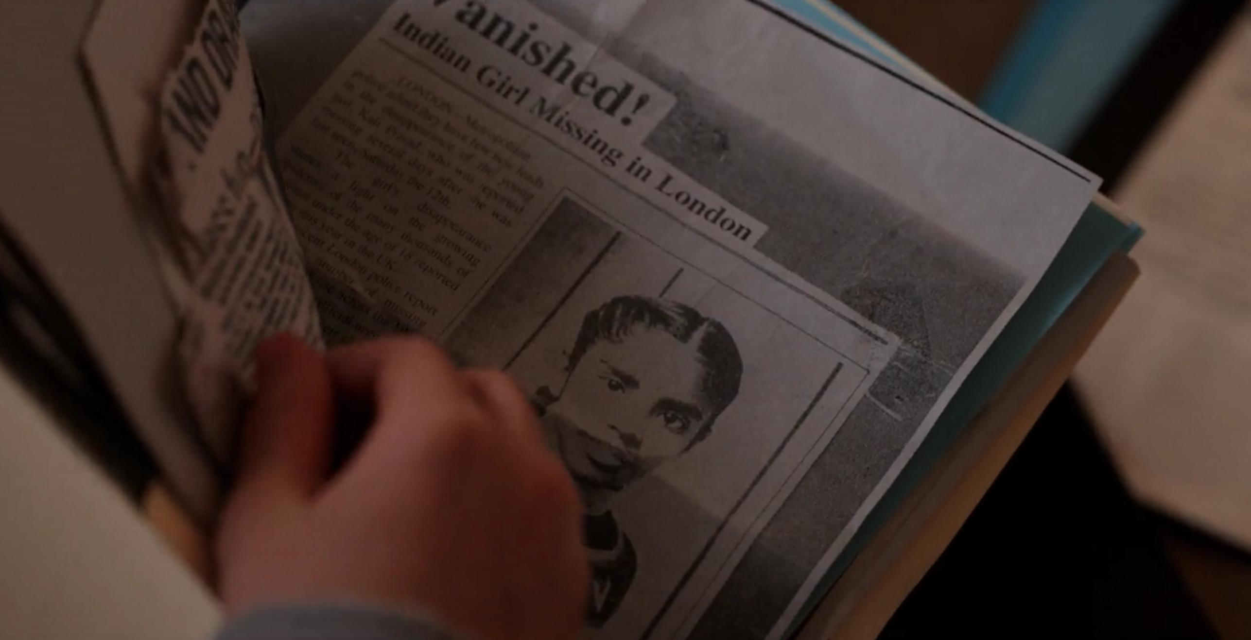 Kali Stranger Things Newspaper Clipping