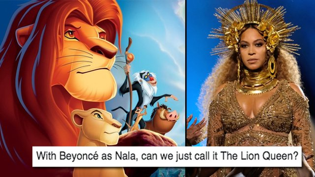 the lion king cast just got announced people are freaking out