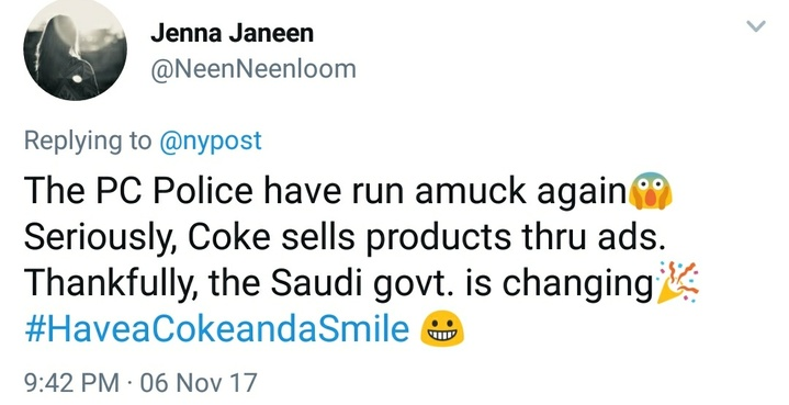 Coke reaction tweet