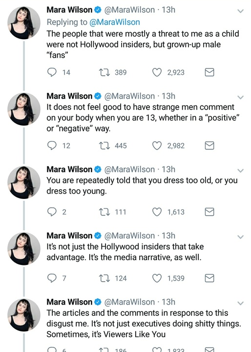 Mara Wilson Twitter reaction