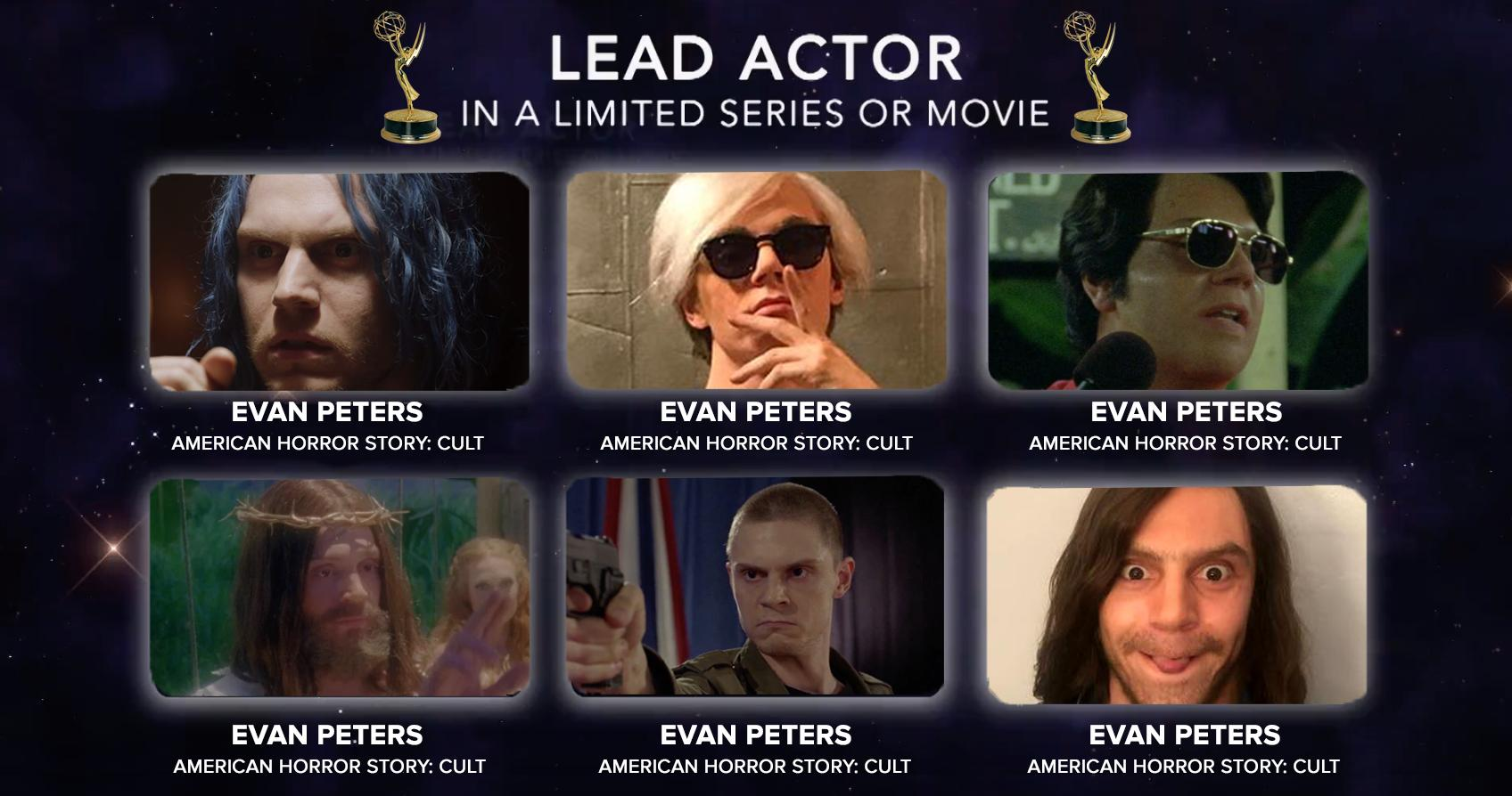 Evan Peters Emmy Meme