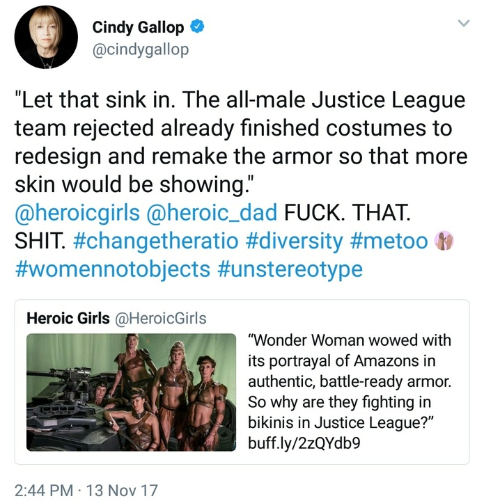 Justice League armour reaction