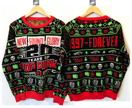 new found glory 20 years knit christmas sweater