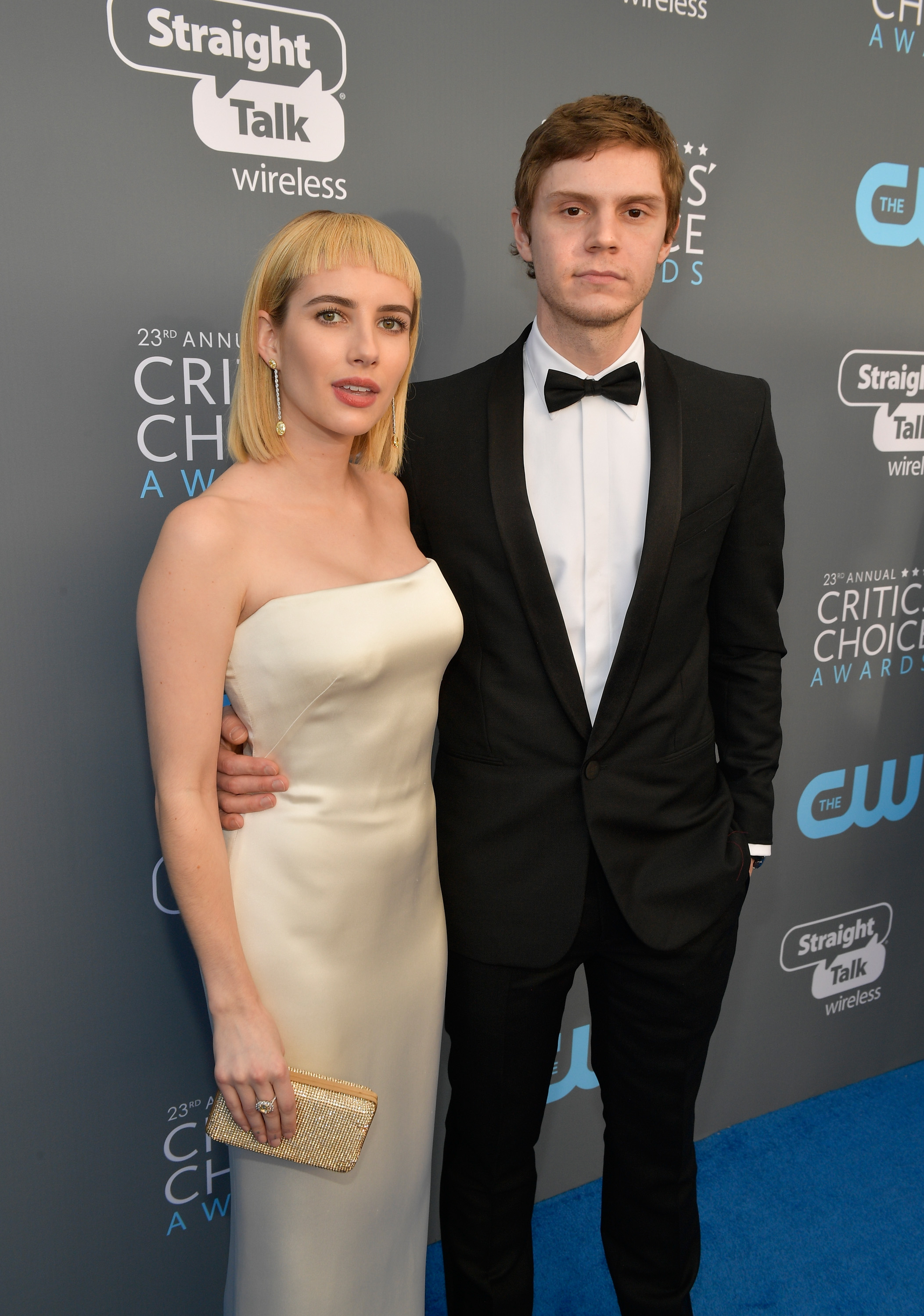 Evan Peters Emma Roberts Critics Choice Awards 201