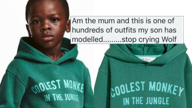 yes you can still be offended by the h m ad even if the boy s mum