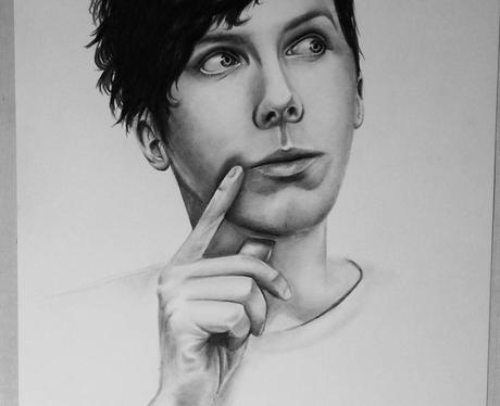 YouTuber Phil Lester fan art by Simona Santoriello