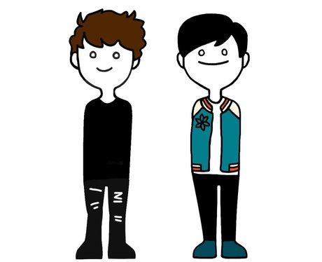 Dan and Phil YouTuber fan art