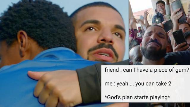 People Have Turned Drake S God S Plan Video Into A Meme Popbuzz