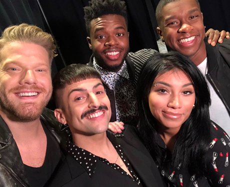 Pentatonix selfie with Matt Sallee
