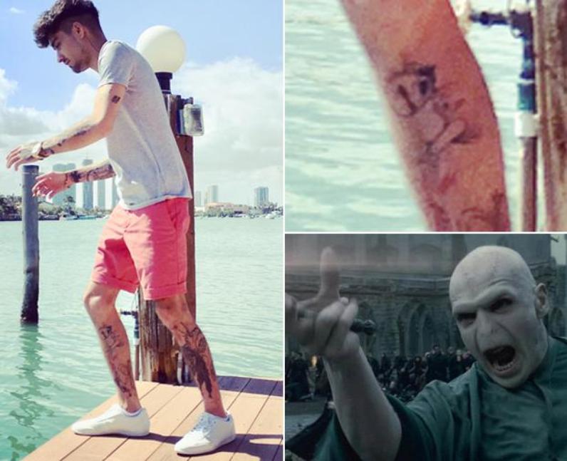 Zayn Voldemort Tattoo