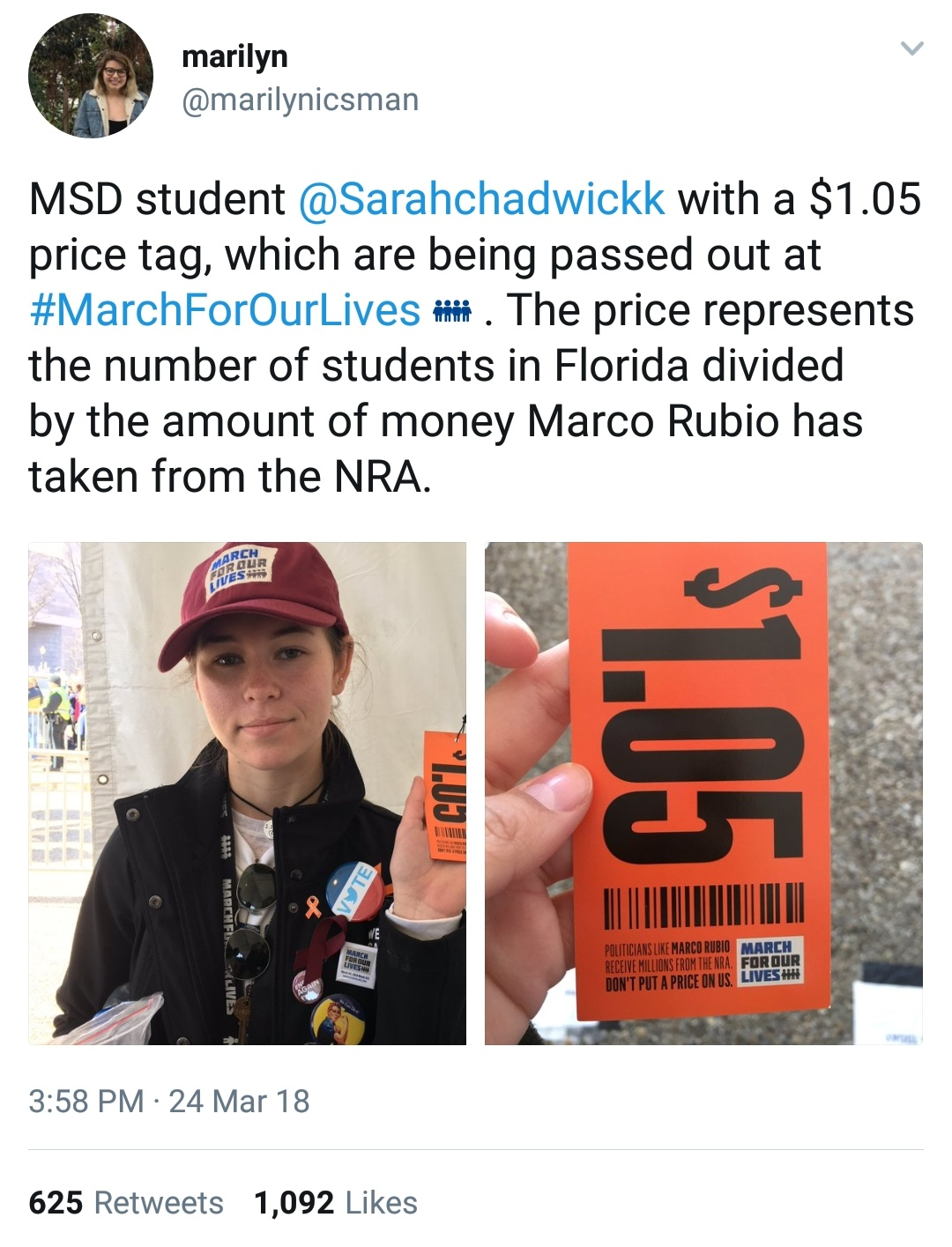 Price tag protest