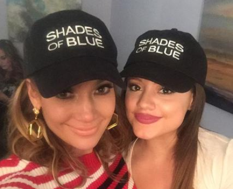 sarah jeffery shades of blue