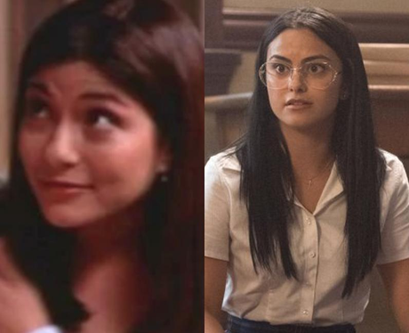 Young Marisol Nichols and Camila Mendes as young Hermione Gomez/Lodge