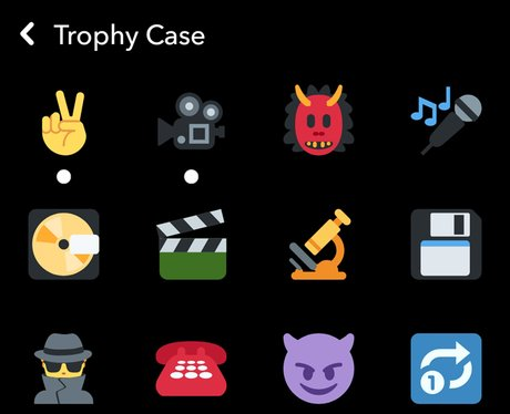 Snapchat trophy case