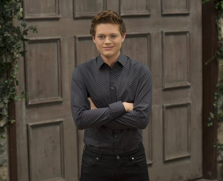 Sean Berdy on set of Switched at Birth