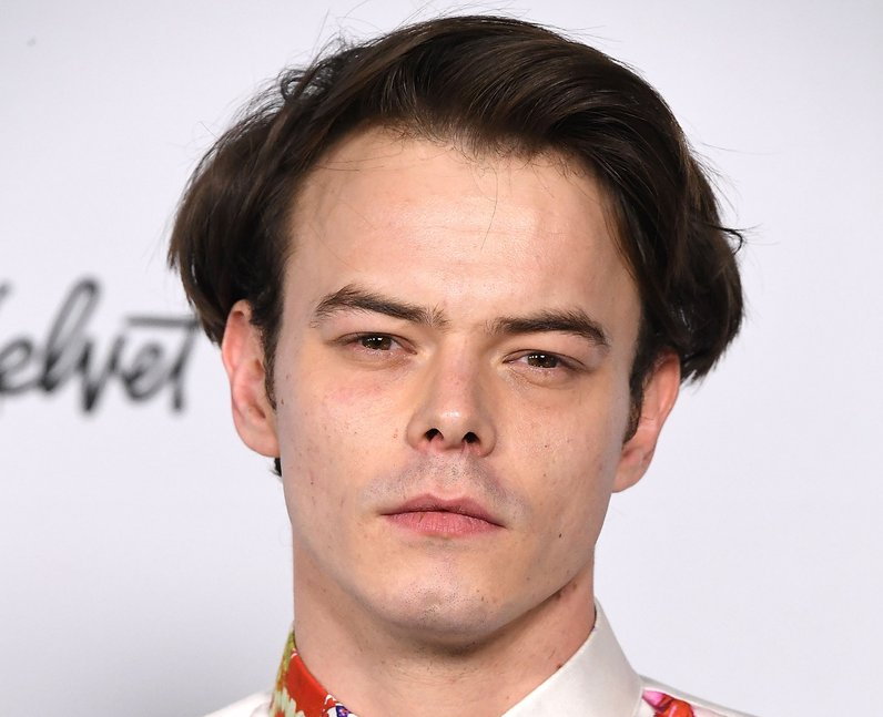 Charlie Heaton in a floral shirt