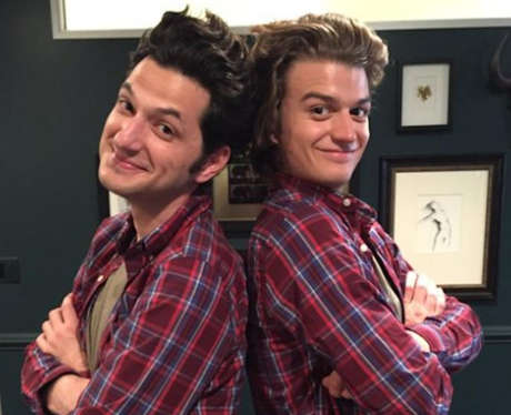 Joe Keery ben schwartz related brothers