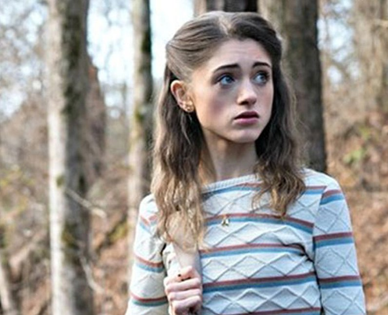 Natalia Dyer as Nancy Wheeler in Stranger Things