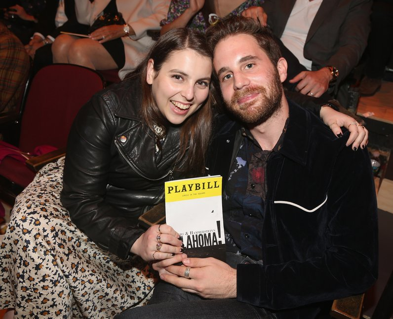Beanie Feldstein and Ben Platt