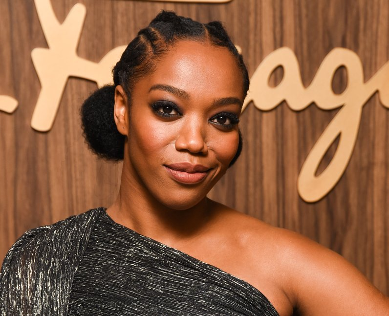 Naomi Ackie attends ELLE x Ferragamo Hollywood Ris