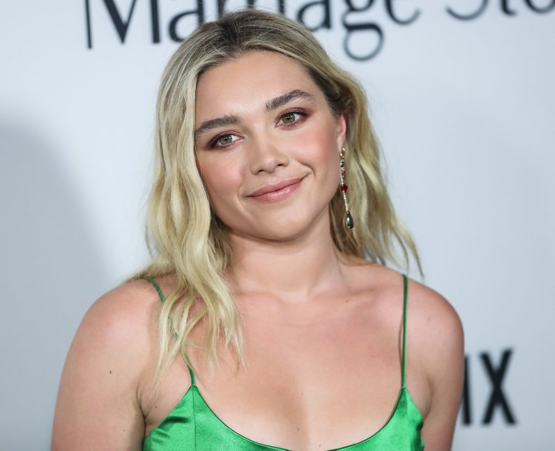 Florence Pugh at Marriage Story premiere