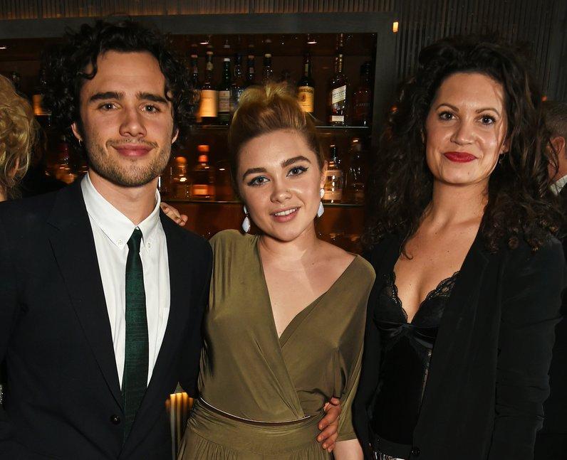 Toby Sebastian, Florence Pugh and Arabella Gibbins