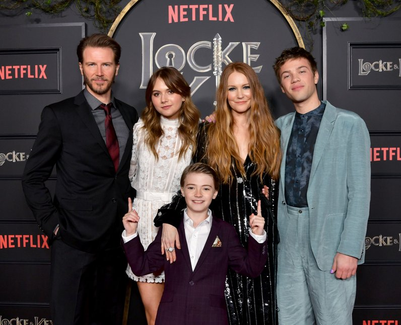 The Locke family from Netflix's Locke & Key