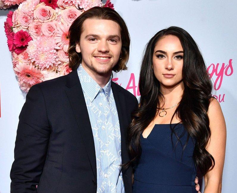 Joel Courtney and fiancée Mia Scholink