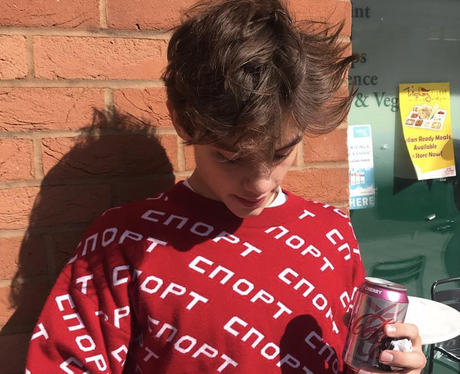 Louis Partridge instagram twitter snapchat tiktok