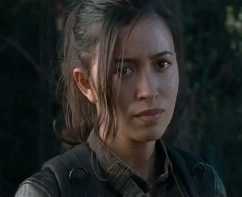 Christian Serratos as Rosita on The Walking Dead