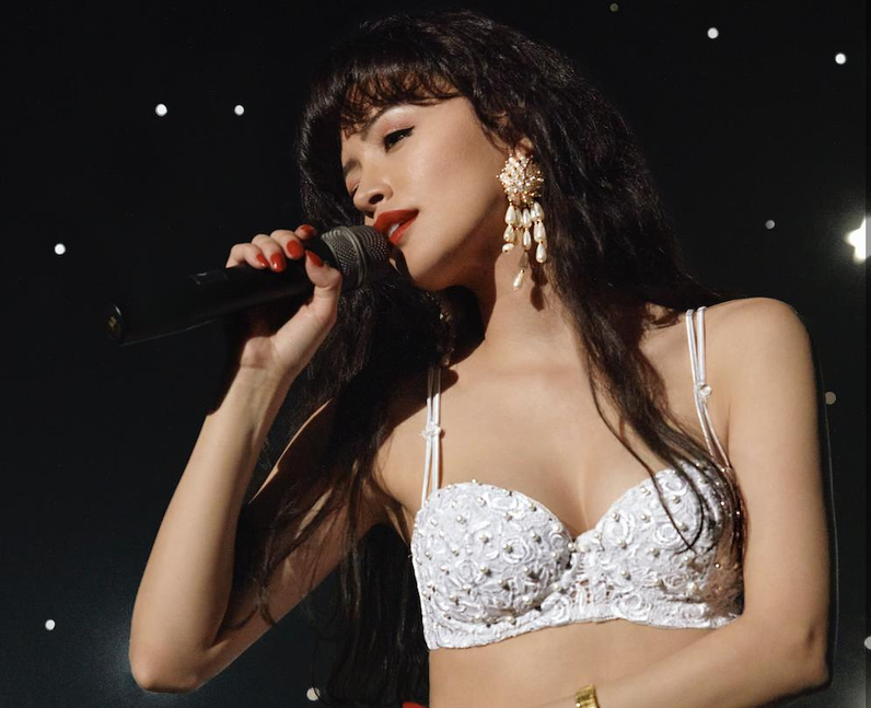 Does Christian Serratos sing in Selena: The Series