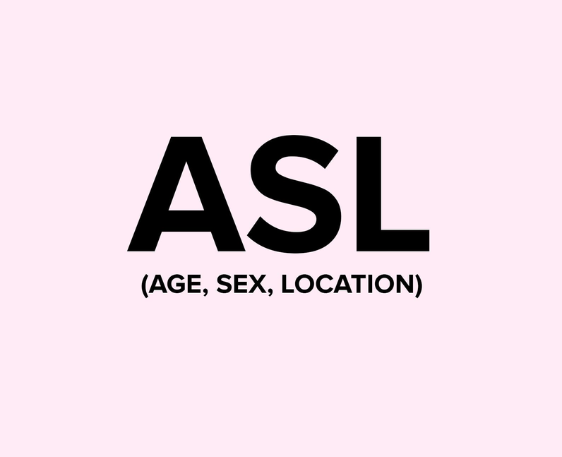 What does ASL mean on TikTok?