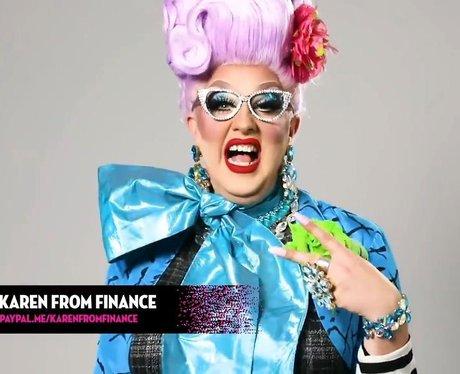 Karen from Finance drag name