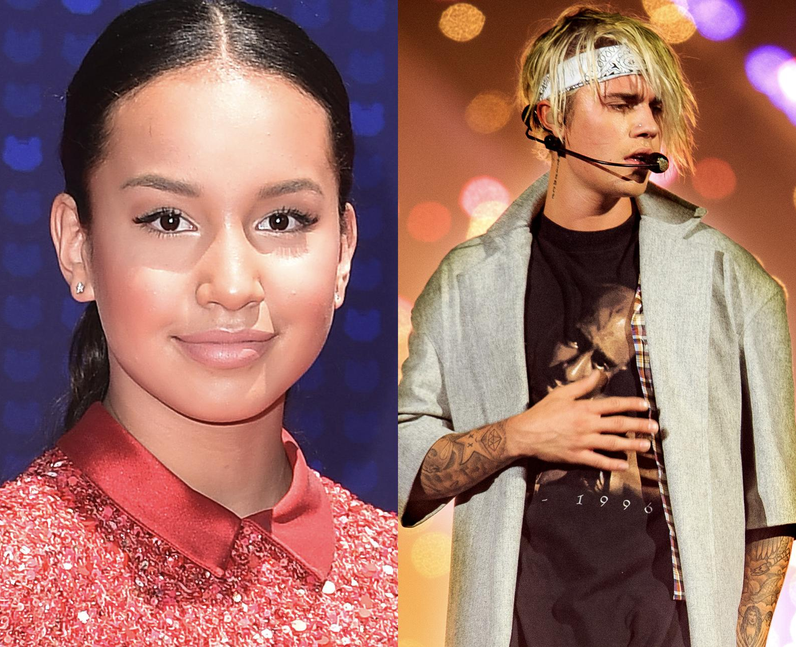 Sofia Wylie performed with Justin Bieber on his Pu