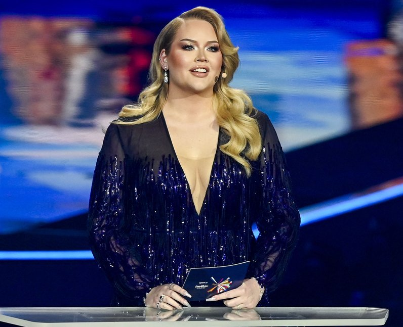 Nikkie de jager hosting the Eurovision semi-finals
